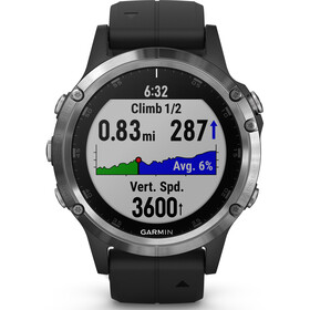 Garmin fenix 5 Plus Montre connectée, silver/black